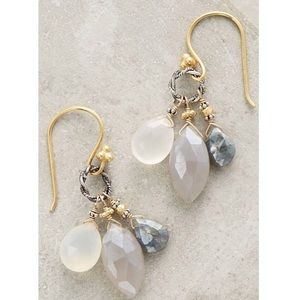 NEW Anthropologie Canyon Lake Drops Earrings Gold